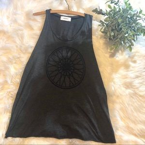 Soul Cycle Heathered Gray Workout Tank Top